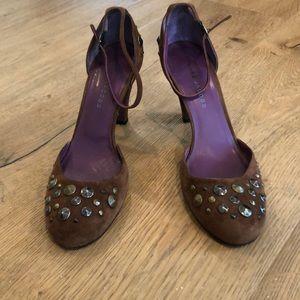 Marc Jacobs Brown Suede Jewel Heels Size 40